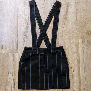 ASOS Striped Suspender Skirt